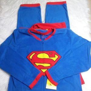 DC Comics Men's Superman One Piece Pajamas XL NEW